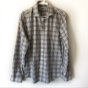 Express men's check casual button down shirt M